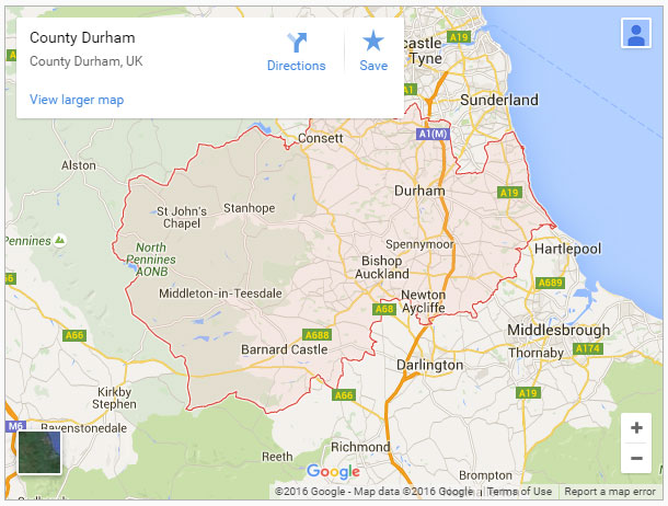 Map-of-County-Durham-England